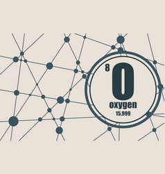 oxygen chemical element vector image