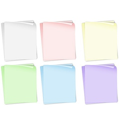 Papers in different colors vector image