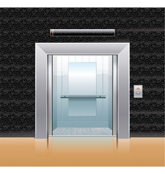 passenger elevator with opened doors vector image