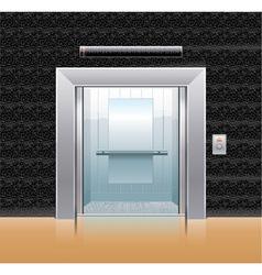 passenger elevator with opened doors vector image vector image