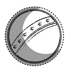 Plastic ball toy icon vector