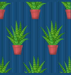 seamless pattern with succulent vector image vector image