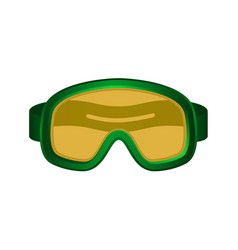 Ski sport goggles in dark green design vector
