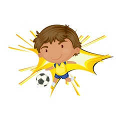 Soccer star vector image vector image