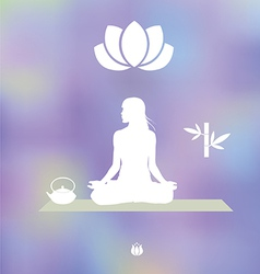 Tea Yoga Meditation set vector image
