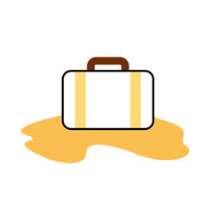 Travel suitcase with sand vector