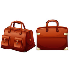 Two designs of brown bags vector