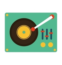 Music vinyl retro icon vector