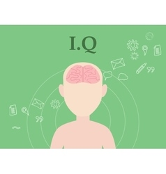 Iq intellectual question concept with vector