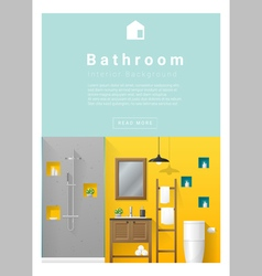 Interior design modern bathroom banner 5 vector