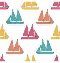 Retro boat seamless pattern vector