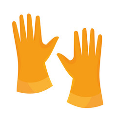 Laundry gloves isolated icon vector