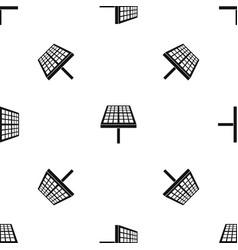 Solar energy panel pattern seamless black vector