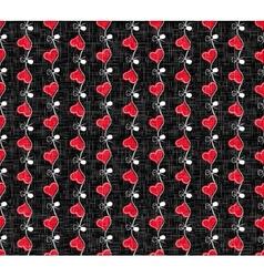 Holiday Hearts Seamless Pattern vector image