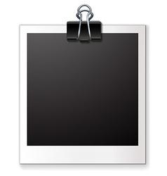 Single blank photo vector image