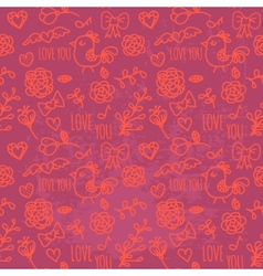 Seamless pattern of valentines day vector