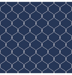 Nautical rope seemless fishnet pattern on dark vector image