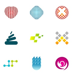 Logo design elements set 47 vector