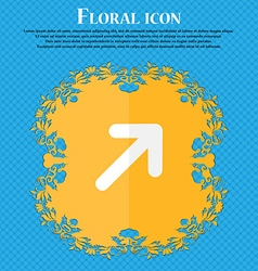 Arrow expand full screen scale floral flat design vector