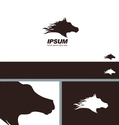 Horse head silhouette symbol branding template vector