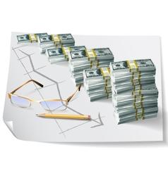 Financial graph vector