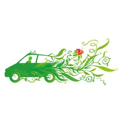 Ecology car vector image