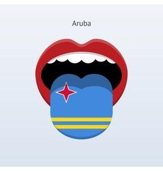 Aruba language abstract human tongue vector