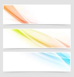 Bright fantasy lines flyer header collection vector