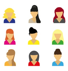 Business icons young beautiful women vector image