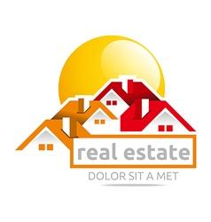 Design real estate buiding architecture house vector