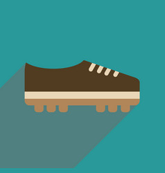 Flat web icon with long shadow soccer shoe vector