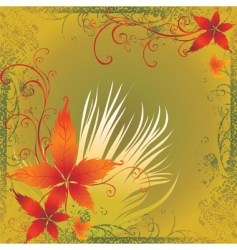frame with colorful autumn leafs than vector image vector image
