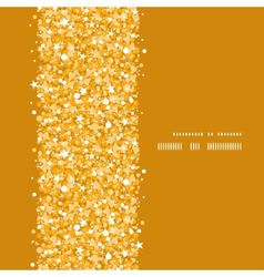 Golden shiny glitter texture vertical frame vector