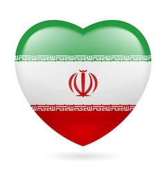 Heart icon of iran vector