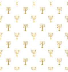 Menorah pattern vector