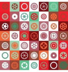 Mosaic gear vector