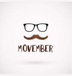 Movember men health month mustache symbol vector
