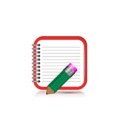 notebook icon for mobile application eps10 vector image vector image