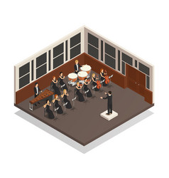 Orchestra isometric vector