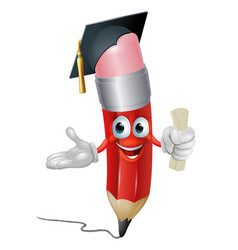Pencil graduate education concept vector