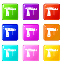 Piercing gun set 9 vector