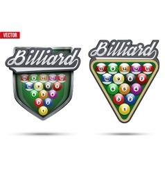 Premium symbols of Billiard Tag vector image vector image