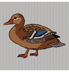 Realistic duck side view vector