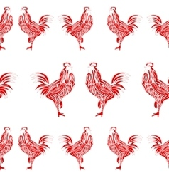 Rooster seamless template vector image