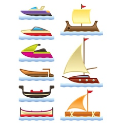 Sea and river boats vector