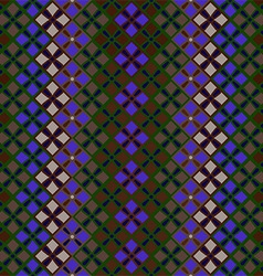 Seamless pattern of squares in vintage style vector