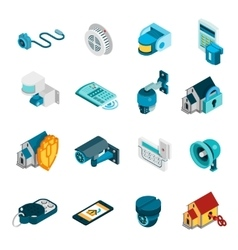 Security System Icons Set vector image