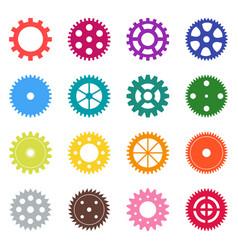 set of color gear wheels vector image