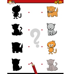 shadow game with cats vector image vector image