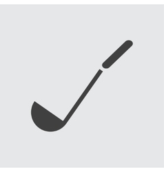 Soup ladle icon vector